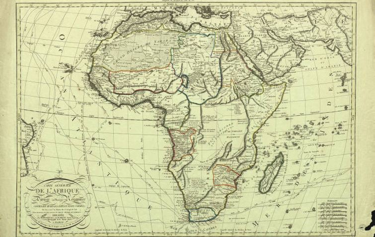 Carte Generale de L'afrique - Published by Bassset