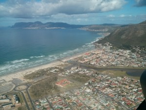 Muizenburg Surfing from the air